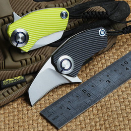 Discount bear claw knives - SiDis Parrot ball bearing flipper folding knife 9Cr18MoV claw blade Titanium G10 Handle outdoor gear camping pocket tact