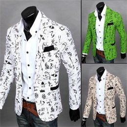 Maillot De Bain Pas Cher-Vente en gros- Blazer floral pour hommes New Fashion Wild Korean Candy Color Stylish Slim Fit Veste de costume pour hommes Casual Business Dress Blazers MBL049