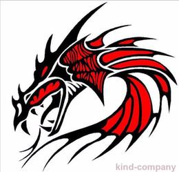 1 conjunto red vehical motor de corrida esporte poder do carro auto 1 pcs cabeça de dragão vermelho vinil emblema adesivo decalques para o lado do capô do motor venda por atacado
