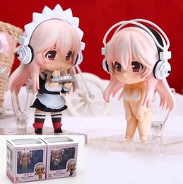 Discount sonico toy - Super Sonico Apron Dress Ver. swimsuit bikini Ver. 2style anime figure Q version Nendoroid action model toys with box T7