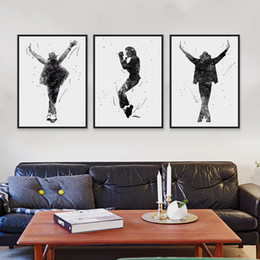 $enCountryForm.capitalKeyWord NZ - Triptych Original Watercolor This Is It Music Celebrity Michael Jackson Pop Movie Art Prints Poster Picture Canvas Painting Wall