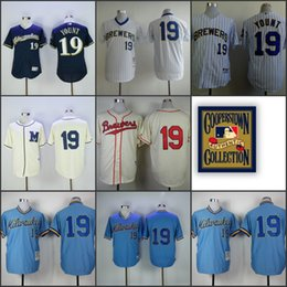 timeless design ca811 b15e2 milwaukee brewers 19 robin yount white pinstripe pullover ...