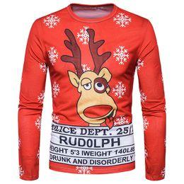 72fff77e Christmas Red Funny T Shirts Men Brand 3d Print Tuxedo Tee Shirts Slim Fit  Camisetas Christmas Costume T-shirts Men's Long Sleeve Tees Top