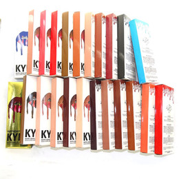 Wholesale 42 colors KYLIE JENNER LIP Gloss KYLIE JENNER LIP Liner KYLIE kits Make Up Matte Liquid lipstick setslip Velvetine Red Velvet Makeup clone