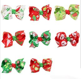 Barato Fita Do Dia Das Bruxas Para Curvas Do Cabelo-Natal Halloween Bebés infantis Princesa Bow Barrettes Toddler Flor Ribbon Ribbon Bowknot Headers 2017 Children Hair accessories