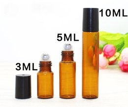 usa glasses UK - Hot sale 1ML 2ML 3ml 5ml 10ml Glass Roll on Bottle with Stainless Steel Roller Small Essential Oil bottle Best Selling in USA