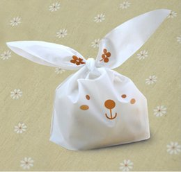 $enCountryForm.capitalKeyWord Canada - 50 pcs lot Cute Rabbit Ear Cookie Bags Self-adhesive Plastic Bags for Biscuits Snack Baking Package Food Bag Home Storage