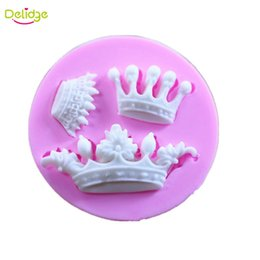 3d Design Tools Canada - Delidge 20 pcs 3 Small Crown Cake Mold Silicone 3D Crown Design Fondant Molds Handmade Baking Crown Cake Decoration Moulds Tools