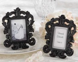 "$enCountryForm.capitalKeyWord UK - Wedding gifts of ""Black Baroque"" photo frame Elegant wedding place card holder or picture frame 100pcs lot Free Shipping"