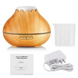 portable face humidifier Australia - Home Office Yoga Room Ultrasonic Essential Oil Aromatherapy Scent Diffuser Cool Mist Wood Grain Aroma Humidifier Diffuser