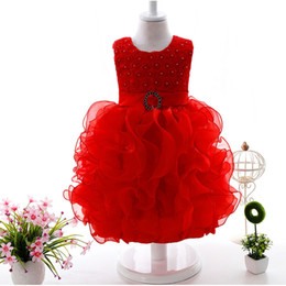 Pale Yellow Girls Party Dress Canada - Baby Kids Clothing Summer Flower Girls' Dresses cute toddler holiday party Ball Gown pageant princess ress TuTu skirt tulle gowns Sundress