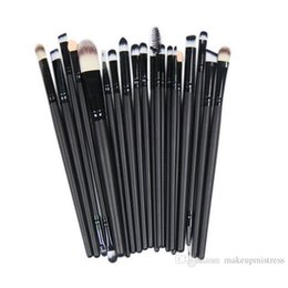 China Makeup brush set 20 pcs black flat shape powder brush cosmetics kit beauty tool High quality Best Gift supplier best blusher suppliers