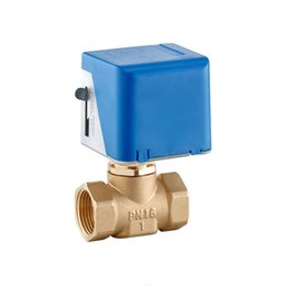 ShipS water valve online shopping - NPT or BSP thread Ways V DN15 Electric Globel Valve