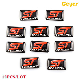 vw racing stickers NZ - Car Stickers ST racing Badge Plastic Drop Sticker for Seat vw honda fiat nissan saab Funny Epoxy Logo Sticker Car Decals 10PCS LOT