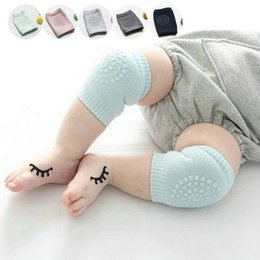 Baby Crawl Pads Canada - Wholesale- Comfortable ductile Baby Toddler Crawling Anti-slip Knee Pads soft Leg warmer Elastic Infant Protect Socks Kneecap Coverage