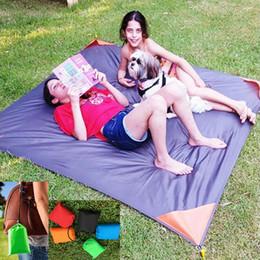 $enCountryForm.capitalKeyWord NZ - New Style Outdoor Beach Waterproof Pads Foldable Travel Picnic Camping Blanket Mat Protable Pocket Nylon Moisture-proof Sleeping Mat WX-P09