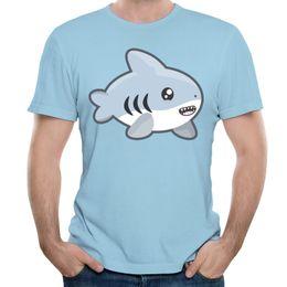 $enCountryForm.capitalKeyWord Canada - Fresh sense t-shirt light blue for men Kawaii Shark printed on male short tees shirt casual short-sleeve o-neck tshirts new listing