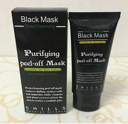 acne purifying peel off black mask Australia - SHILLS Purifying Peel Off Black Mask Blackhead Remover Deep Cleansing Pore Acne Treatment Black Heads Removal 50ml Cheap Facial Mask