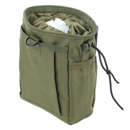 table pouch UK - 8 Color Tactical Molle Recycling Bag Collection Debris Pouch Travel Hunting Storage Carrying Bag with Drawstring for Outdoor Camping +B
