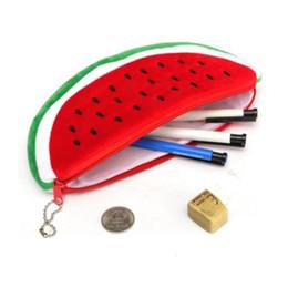 $enCountryForm.capitalKeyWord Canada - Cute Red Practical Case Volume Watermelon Kids Pen Pencil Case Gift Cosmetics Purse Wallet Holder Pouch School Supplies