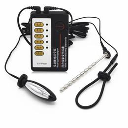 $enCountryForm.capitalKeyWord Australia - Electric Shock Small Oval Anal Plug+Spindly Urethral Plug+Penis Ring Medical Themed Toy SM Player Sex ProductI9-1-83