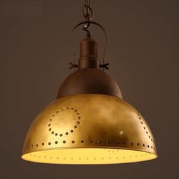Nordic Loft Vintage Industrial Hanging Lamp Retro Iron Hanging Light For  Bedroom Creative Lid Pendant Light Fixtures Home Lighting