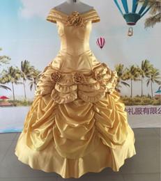 Envío rápido vestidos de oro vestidos de noiva 2017 con flores de cristal fuera de los vestidos de fiesta