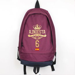281ccd1439f0 Andres Iniesta backpack 600D Nylon daypack Strong star schoolbag Football rucksack  Sport school bag Outdoor day pack
