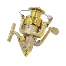 wheel gold 2019 - Wholesale 2017 New Spinning Reel Fishing Reel YK Series 6BB 5.2:1 Spinning Reel Fishing Wheel Free Shipping discount whe