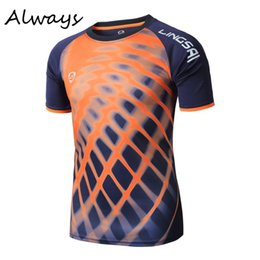 Barato Tees Secos Atacado-Venda Por Atacado - 3D Print T Shirt Men Casual Workout Short Sleeve Quick Dry Exercise Tee Shirts Tops