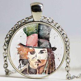 Glass Art Prints Canada - Johnny Depp Art Print Necklace Glass Photo Cabochon Necklace