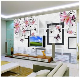Shop 3d Lily Wall Mural UK 3d Lily Wall Mural free delivery to UK