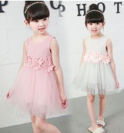 Robes Filles Filles Pas Cher-Summer New Kids Girls Dentelle Pincess Robe Enfant Vêtements Enfant Lace Robe manches courtes Girls Nice Casual Dress 5PCS Lot Z50201
