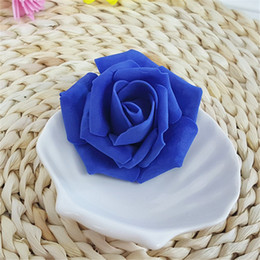 $enCountryForm.capitalKeyWord NZ - 50pcs Wholesale Foam Rose Flower Head Borland Color Artificial Rose Flowers Bouquet Handmade Wedding Decorations Home For Festive & Party