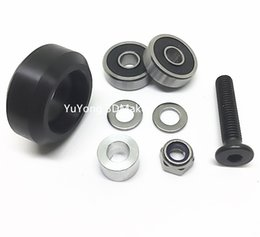 Rail Parts Canada - Freeshipping New listing High precision CNC delrin solid v wheel kits for Openbuilds v-slot linear rail system,OX CNC,C-Beam parts