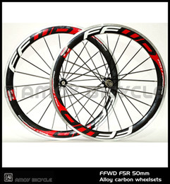 $enCountryForm.capitalKeyWord NZ - New! Free shipping 700C FFWD F5R 50mm clincher rim Road bike 3K carbon bicycle wheelset with alloy brake surface carbon wheels