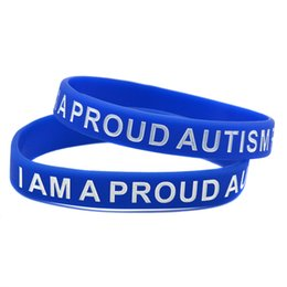 Wear Bracelet Australia - 100PCS Lot I Am A Proud Of Autism Parent Silicone Wristband Great For Daily Reminder By Wearing This Bracelet