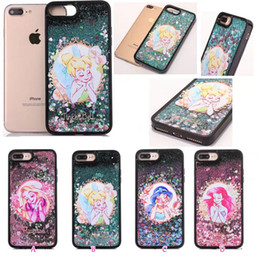 $enCountryForm.capitalKeyWord Australia - Case For Iphone 8 7 Plus 6 6S Sexy Girl Lady Bling Liquid Quicksand Glitter Hard Plastic+TPU PC Sparkle Moving Magical Skin Floating Dynamic