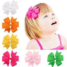 $enCountryForm.capitalKeyWord NZ - Best gift Ribbon Swallowtail Bowknot Hairpin Hand Ribbon Bowknot Hairpin Baby Hair Accessories FJ113 mix order 60 pieces a lot