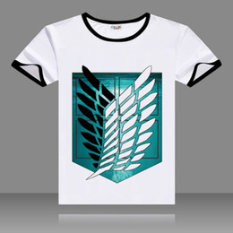 $enCountryForm.capitalKeyWord Canada - 2017 T-shirts Attack on Titan Cosplay Black O-Neck Short Sleeve Costumes Eren Print Tops Casual Summer Tees