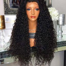 $enCountryForm.capitalKeyWord Australia - Brazilian Virgin Hair Kinky Curly 180% Density Full Lace Human Hair Wigs For Black Women With Baby Hair Glueless Bleached Knots
