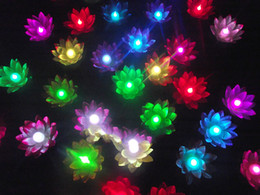 $enCountryForm.capitalKeyWord Australia - LED Artificial Lotus flower Colorful Changed Floating Water flower swimming Pool Wishing Light Lamps Lanterns Party supply