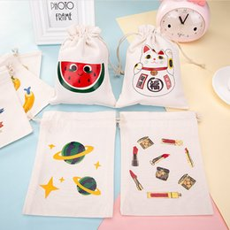 Nice stock online shopping - Good Quality New Handmade Cotton Cloth Storage Bags Bundle Drawstring Bags Gift Bag Nice Print Bag IC601