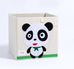 Fold Laundry Basket Canada - 2018 Newest HOT 3D Embroidery Cartoon Animal Folding Storage Box Large Laundry Basket Sundries Children Clothes Toys Book Storage organizer