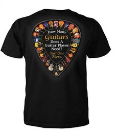 China How Many Guitars Does a Guitar Player Need Just One More Funny Men's Fashion T-Shirt Short Sleeve Tee Shirt suppliers