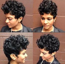Merletto riccio delle donne con parrucca di capelli del bambino Parrucche anteriori in pizzo sintetico Resistente al calore parrucche ricce crespo afro-crespo economici per donne nere Africa in Offerta