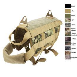 Dog Plates Australia - Outdoor Camouflage Plate Carrier Dog Clothes Load Jacket Gear Vest Tactical Dog Training Molle Vest NO06-205
