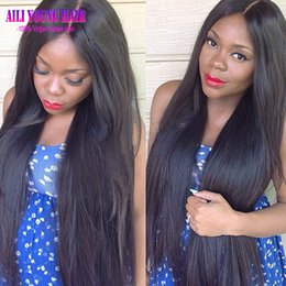 Brown Straight Wig Part NZ - Hotsale Glueless Full Lace Human Hair Wigs Silky Straight Virgin Peruvian Human Hair Lace Front Wigs For Black Women U Part Wig