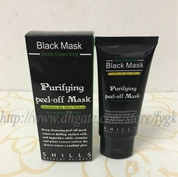 acne purifying peel off black mask NZ - Hot Selling 50ml SHILLS Deep Cleansing purifying peel off Black mud Facail face mask Remove blackhead facial mask Shills Masks 50pcs