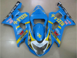 $enCountryForm.capitalKeyWord NZ - New ABS motorcycle Fairing Kits 100% Fit For Suzuki GSXR600 GSXR750 2004 2005 600 750 04 05 K4 bodywork set nice blue yellow RIZLA+